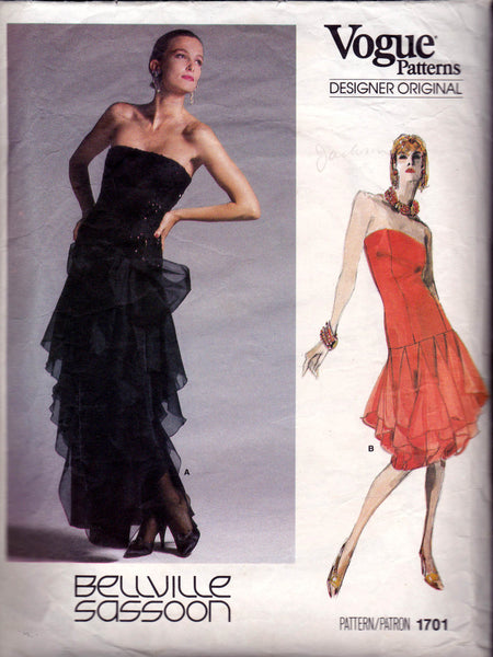 Vogue 1701 Bellville Sassoon dress