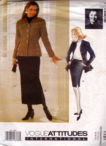 Vogue 1181 90s skirt suit