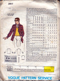 Vogue Americana 2917 BILL BLASS Mens Jacket Sweater Shirt & Necktie 70s Vintage Sewing Pattern size Chest 40 inches