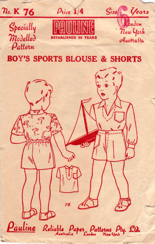 Pauline K76 boys 40s shirt and shorts