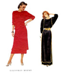 Vogue American Designer 2998 GEOFFREY BEENE Womens Batwing Sleeved Maxi Dress 1980s Vintage Sewing Pattern Size 12 Bust 34 inches