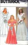 butterick 4765 80s wedding dress