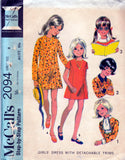 McCall's 2094 girls 60s dress