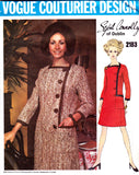 vogue 2183 60s coatdress sybil connolly