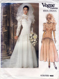 Vogue Bridal 1660 80s wedding dress