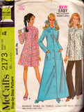 McCall's 2173 top robe pants