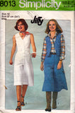 Simplicity 8013 culottes and vest