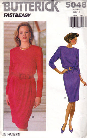 Butterick 5048 90s dress