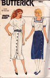 butterick 4863 80s skirts