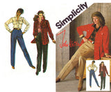 Simplicity 6153 Womens JOHN WEITZ Tapered Pants Shirt & Unlined Jacket 80s Vintage Sewing Pattern Size 14 UNCUT Factory Folds