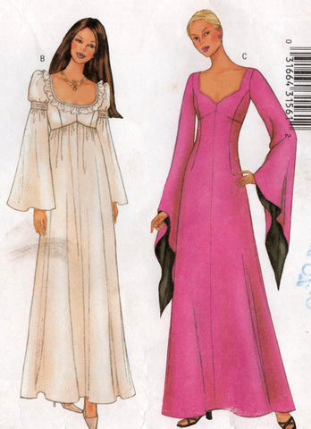 butterick 6593 oop angel sleeve dress
