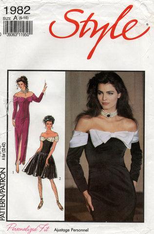 style 1982 90s evening dress