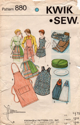 kwik sew 880 70s aprons and other accessories