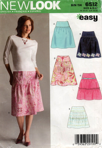 new look 6512 oop skirts