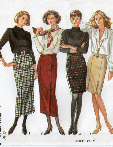 new look 6102 straight skirts 90s