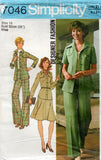 simplicity 7046 70s womens safari suit