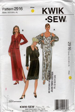 Kwik Sew 2916 oop dress and jacket