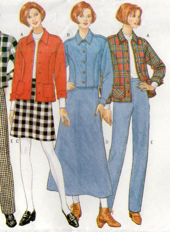 butterick 4585 90s pants skirts top