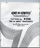 Knit N Stretch 510 A UNISEX Leisurewear Tracksuit Jogging Suit T Shirt & Shorts 80s Vintage Sewing Pattern Sizes 8 - 26 UNCUT Factory Folded