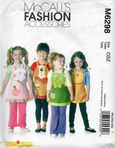 McCall's 6298 Animal aprons for kids