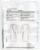 Vogue American Designer 1283 TOM and LINDA PLATT Womens Asymmetric Side Draped Stretch Dress OOP Sewing Pattern Sizes 6 - 14 or 14 - 22 UNCUT Factory Folded