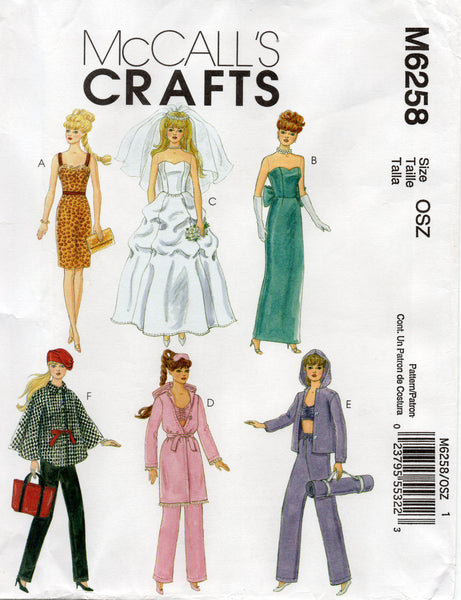 McCall's 6258 dolls clothes