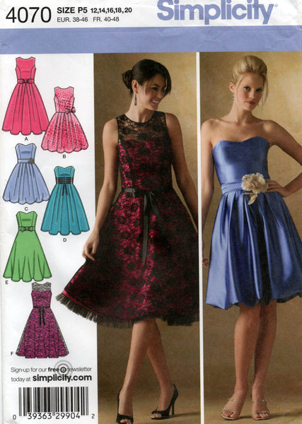 simplicity 4070 full skirt dress