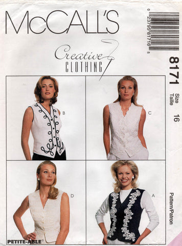 McCall's 8171 vests