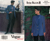 Vogue Career 2777 ANNE KLEIN II Womens Jacket & High Waisted Pants 90s Vintage Sewing Pattern Size 8 10 12