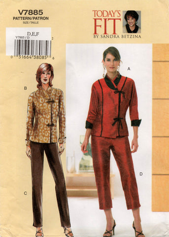 Vogue 7885 asian top and pants oop