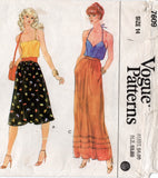 vogue 7609 70s skirts