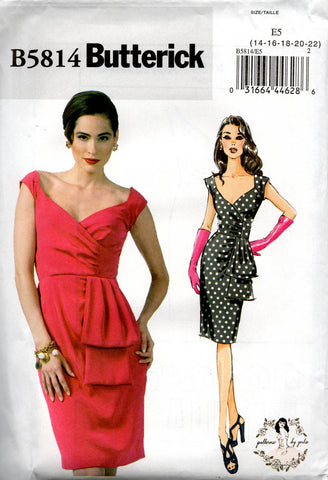 butterick 5814 gerties dress oop