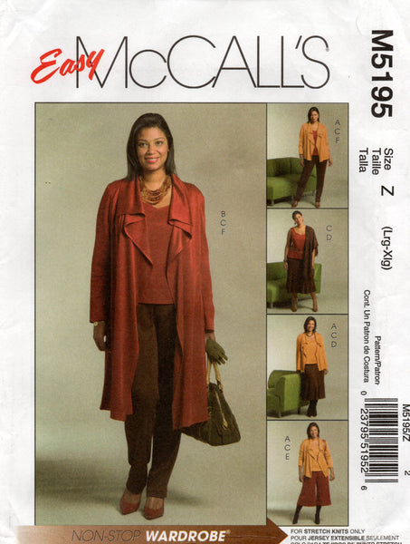 McCall's 5195 stretch co ordinates oop