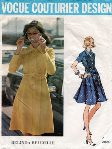 vogue 2820 belinda bellville 70s dress