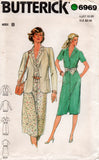 butterick 6969 80s shirtdress and jacket