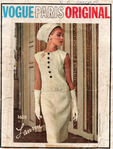 Vogue 1602 lanvin 60s dress