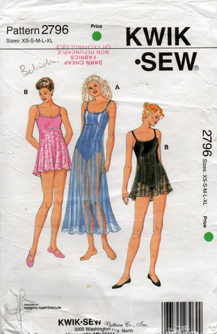 Kwik Sew 2796 oop leotards with skirt