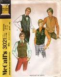McCall's 3021 mens 70s vests