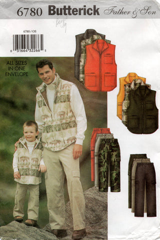 Butterick 6780 father and son vest and pants