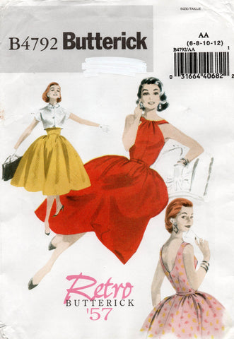 butterick 4792 reissued 50s dress and bolero
