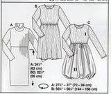 Burda 7869 Womens High Waisted Dress with Bubble Skirt Option OOP Sewing Pattern Sizes 6 - 18 UNCUT Factory Folds