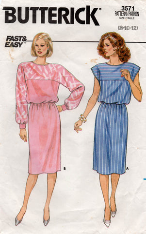butterick 3571 80s dress