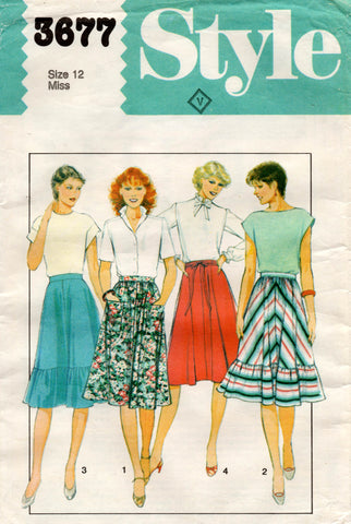 style 3677 80s skirts