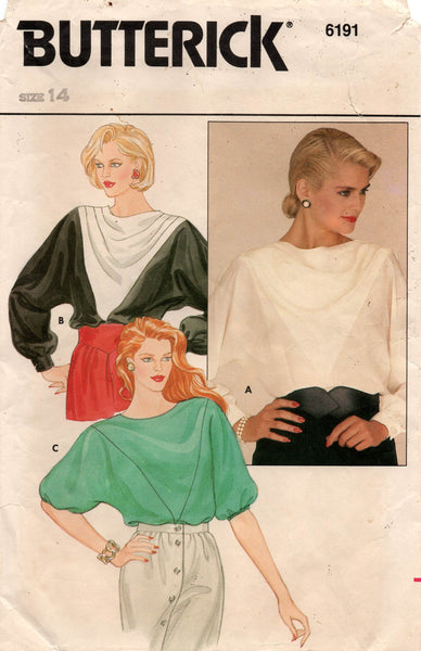 butterick 6191 80s tops