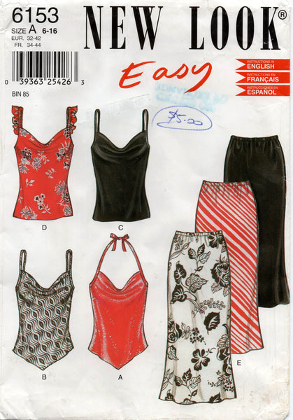 d7a869d0a New Look 6153 Womens Skirts & Summer Tops OOP Sewing Pattern Sizes 6 -