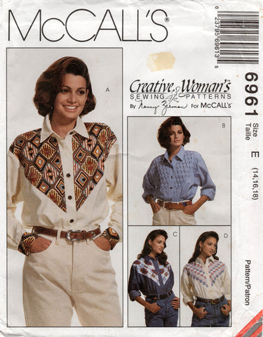 McCall's 6961 western shirts 90s