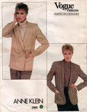 vogue 2985 80s jacket anne klein