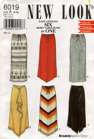 new look 6019 oop skirts