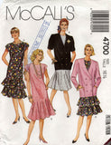 McCall's 4700 half size 90s dress and jacket