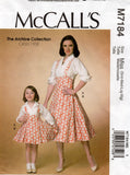 McCall's 7184 mother and daughter 50s dress and blouse